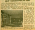 Library to Have Grand Opening Feb. 10, 1966