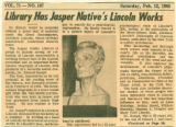Library Has Jasper Native's Lincoln Works