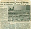 Jasper Public Library Renovates Building; New Amphitheater Offers Comfort, Space