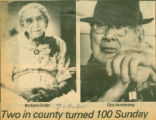 Two in county turned 100 Sunday