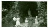 Fehribach children at the grotto in Ferdinand