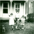 Elshoff children and Lois Vogel