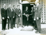 Dale Helmerich at a ribbon cutting