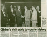 Clinton's visit adds to county history (part 1)