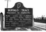 Buffalo Trace road sign