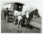 Henryville school wagon photograph c1915, Henryville, Indiana