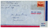 Korean War Letter from V Bruce Stockdell to Jesse G Dorsey 19 Mar 1953