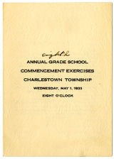 Charlestown Eighth Grade School commencement program, Charlestown, Indiana 1935