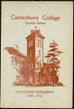 Canterbury College Catalogue Supplement 1949-1950