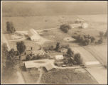 Aerial photograph of the Carlin farm, Monroe Township, Kosciusko County, Ind., June 17, 1951