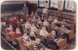Classroom photograph of Monroe Township Consolidated School, 1st and 2nd grades, Kosciusko County,...