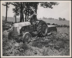Ray Carlin driving a Ford tractor, Kosciusko County, Ind., 1949