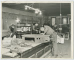 Interior of Johnson Neon Sign Co., South Whitley, Ind., ca. 1940