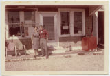 Earl L. and Evelyn C. (Kinsey) Ferrell in front of the Luther Store, Luther, Ind., Fall 1964