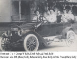 Kelly family riding in Maxwell automobile, 1914