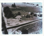 Aerial photo of Luther Store, Luther, Ind., ca. 1935