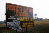 Pierceton Antique Junction sign on US 30