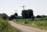 Road leading through Kinsey, Ind., 1986