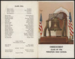 Commencement Program, Class of 1956, Pieceton High School, Pierceton, Ind., 1956