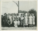 Group on the Thomas J. Poland farm, Kosciusko County, Jackson Twp., Oct. 1953
