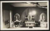 Interior  photograph of St. Francis Xavier  Catholic Church at Christmas, Pierceton, Ind., 1938