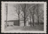 Snapshot looking at the back of the Pierceton High School gymnasium, Pierceton, Ind., ca. 1940s