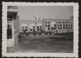 Snapshot showing a portion of the Pierceton School, Pierceton, Ind., ca. 1940s