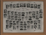 Framed senior composite photo of the Pierceton High School seniors; Pierceton, Ind., 1956