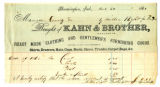 Payment receipt for Clothing purchased at Kahn and Brother
