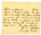 Payment Receipt for the Care of Frank Beatty, a Pauper