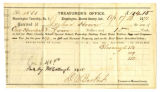 Receipt for Taxes for Joshua Hoover in 1871