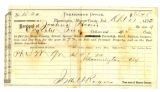 Receipt for Taxes for Joshua Hoover in 1873