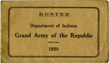 Roster of the Department of Indiana Grand Army of the Republic 1920