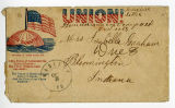 Envelope addressed to Mrs. Isabella Graham of Bloomington, Indiana