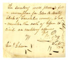 Note, Thomas Posey to John Gibson, 21 September 1814