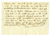Affidavit of James Adair, 1 December 1810