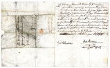Letter, William Hinkson to Governor William Henry Harrison, 25 December 1805.