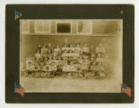 Class Portrait of Children in front of Smithville School