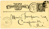 James Whitcomb Riley Postcard to Maurice Thompson