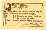 Postcard of James Whitcomb Riley Poem