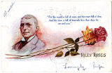 Postcard of James Whitcomb Riley Poem, Riley Roses