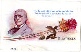 "Postcard of James Whitcomb Riley Poem, ""Riley Roses"""
