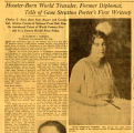 Hoosier-Born World Traveler-1, Former Diplomat, Tells of Gene Stratton Porter's First Writeup