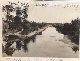 Wabash River looking south at Ceylon, 1908