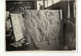 In-progress panel carving