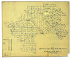 Map of Jefferson County Indiana Showing Rural Delivery Service