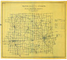 Map of Wayne County Indiana Showing Rural Delivery Service