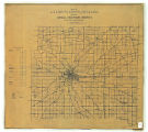 Map of Allen County Indiana Showing Rural Delivery Service