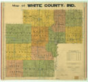 Map of White County Indiana