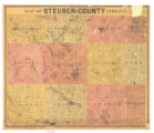 Map of Steuben County Indiana
